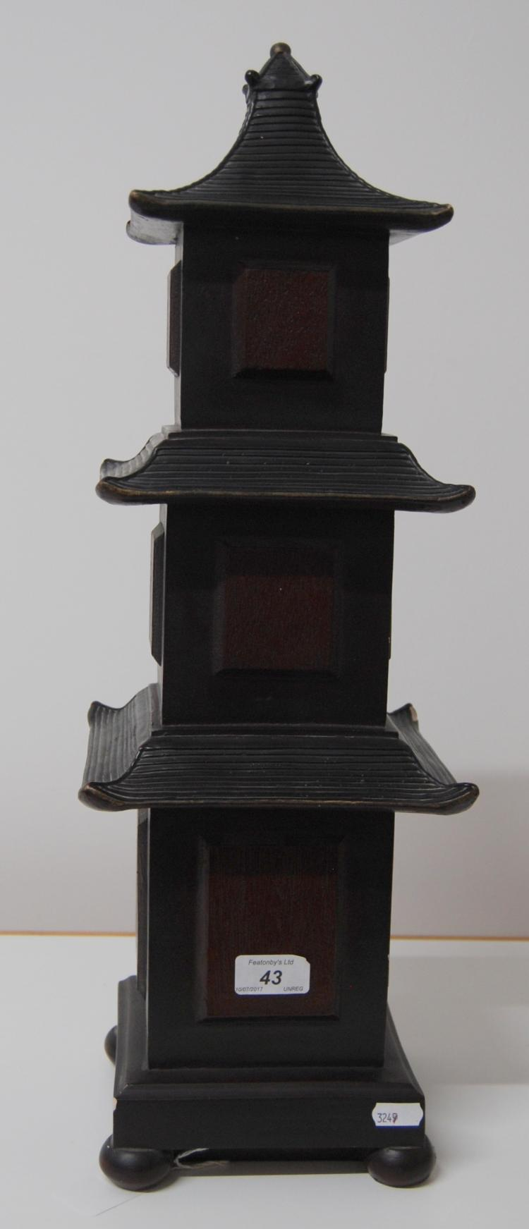 Austin Sculpture Ceramic Model Of A 3 Tier Pagoda