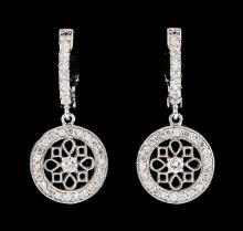 0.66 ctw Diamond Earrings - 14KT White Gold