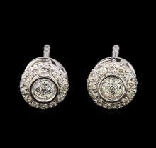 14KT White Gold 0.52 ctw Diamond Earrings