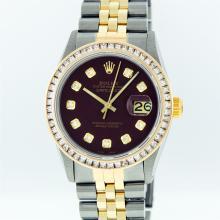 Rolex Two Tone 2.75 ctw Diamond DateJust Men's Watch