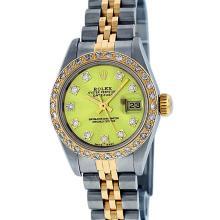 Rolex Ladies Two Tone Yellow VS Diamond Datejust Wristwatch