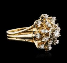 14KT Two-Tone Gold 0.77 ctw Diamond Ring