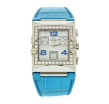 Omega Stainless Steel Diamond Constellation Quadra Watch