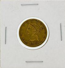 1882-S $5 VF Liberty Head Half Eagle Gold Coin