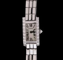 Cartier 18KT White Gold Diamond Lanieres Ladies Watch