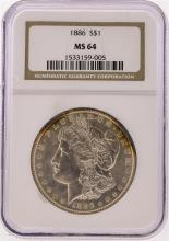 1886 NGC  MS64 Morgan Silver Dollar