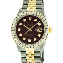 Rolex Two Tone 3.00 ctw Diamond DateJust Men's Watch