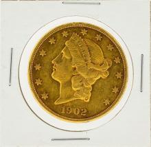 1902-S $20 AU Liberty Head Double Eagle Gold Coin