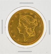 1873-S $20 AU Liberty Head Double Eagle Gold Coin