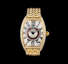 Franck Muller Vegas 18KT Yellow Gold Watch
