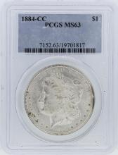 1884-CC PCGS MS63 Morgan Silver Dollar