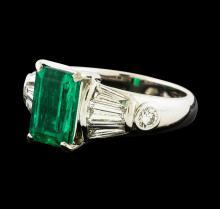 2.14 ctw Emerald and Diamond Ring - Platinum