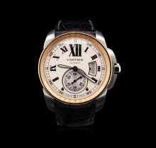 Calibre De Cartier Stainless Steel Watch