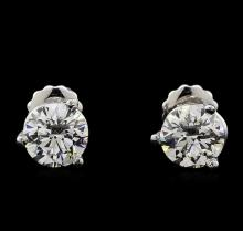 2.02 ctw Diamond Solitaire Earrings - Platinum