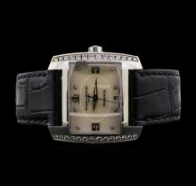 Baume & Mercier Tiffany Stainless Steel Diamond Watch