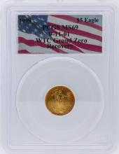 1999 PCGS Graded MS69 WTC 9-11-01 $5 American Eagle Gold Coin