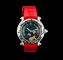 Chopard Stainless Steel Happy Beach Floating Fish Watch