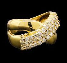 0.86 ctw Diamond Ring - 18KT Yellow Gold