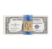 Original 1935F $1 Silver Certificate Pack of 100
