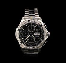 Tag Heuer Stainless Steel 1.04 Diamond Aquaracer Men's Watch