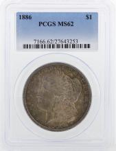1886 PCGS MS62 Morgan Silver Dollar