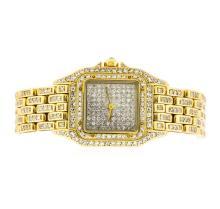 Cartier 18KT Gold 2.50 ctw Diamond Panthere Ladies Watch