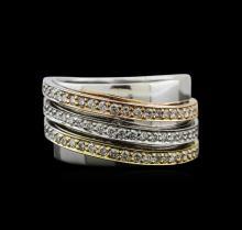 1.01 ctw Diamond Ring - 14KT Tri-Color Gold