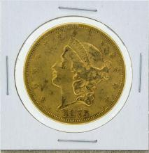 1873-S Open 3 Liberty Double Eagle Gold Coin XF