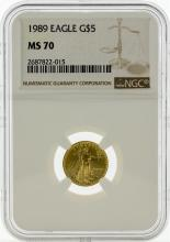 1989 NGC MS70 $5 Eagle Gold Coin