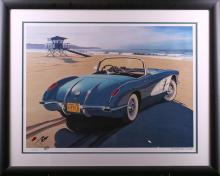 Harold James Cleworth 58 Corvette Limited Edition Lithograph