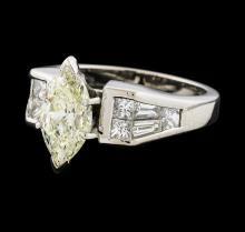 2.45 ctw Diamond Ring -  Platinum