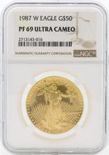 1987-W PF69 Ultra Cameo $50 Gold Eagle