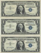 1957 $1 Star Note Silver Certificate Currency Lot of 5