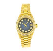 Rolex 18KT Gold Lady President Diamond DateJust Ladies Watch