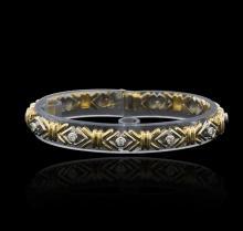 0.43 ctw Diamond Bracelet - 14KT Two-Tone Gold