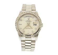 Rolex Platinum President 1.72 ctw Diamond DayDate Men's Watch
