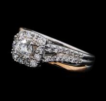1.00 ctw Diamond Ring - 14KT White and Rose Gold