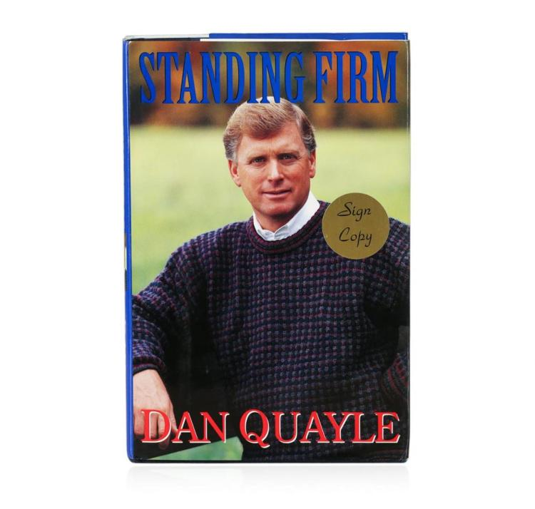 Signed Copy of Standing Firm by Dan Quayle