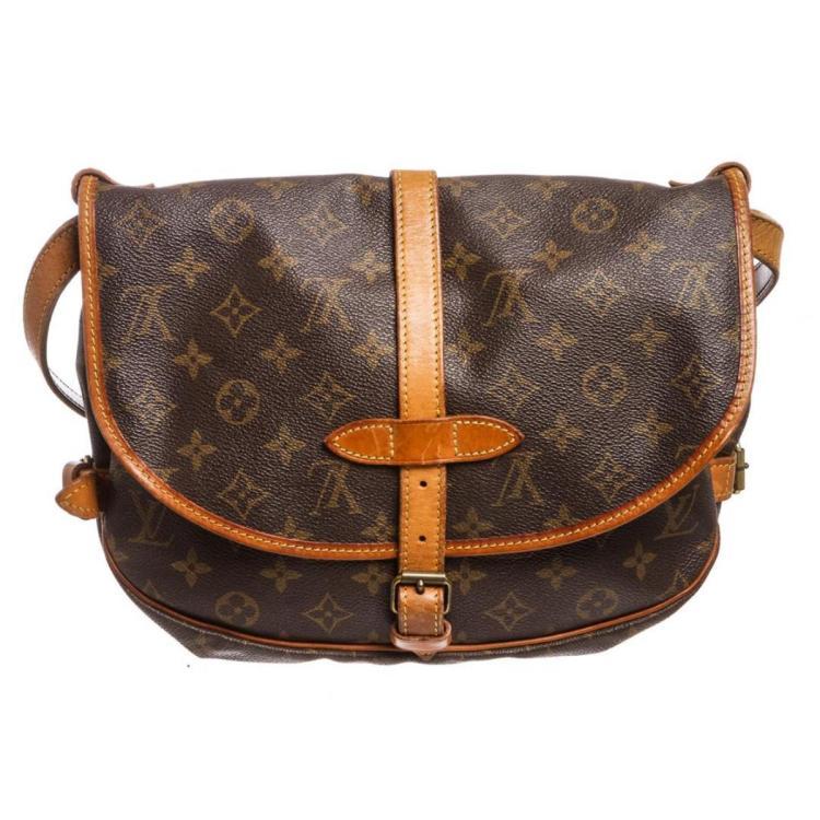 Louis Vuitton Monogram Canvas Leather Saumur 30 cm Messenger Bag