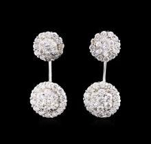 1.66 ctw Diamond Earrings - 14KT White Gold
