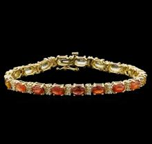 14KT Yellow Gold 10.83 ctw Sapphire and Diamond Bracelet