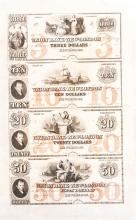 Union Bank of New London Connecticut Uncut Sheet of Notes