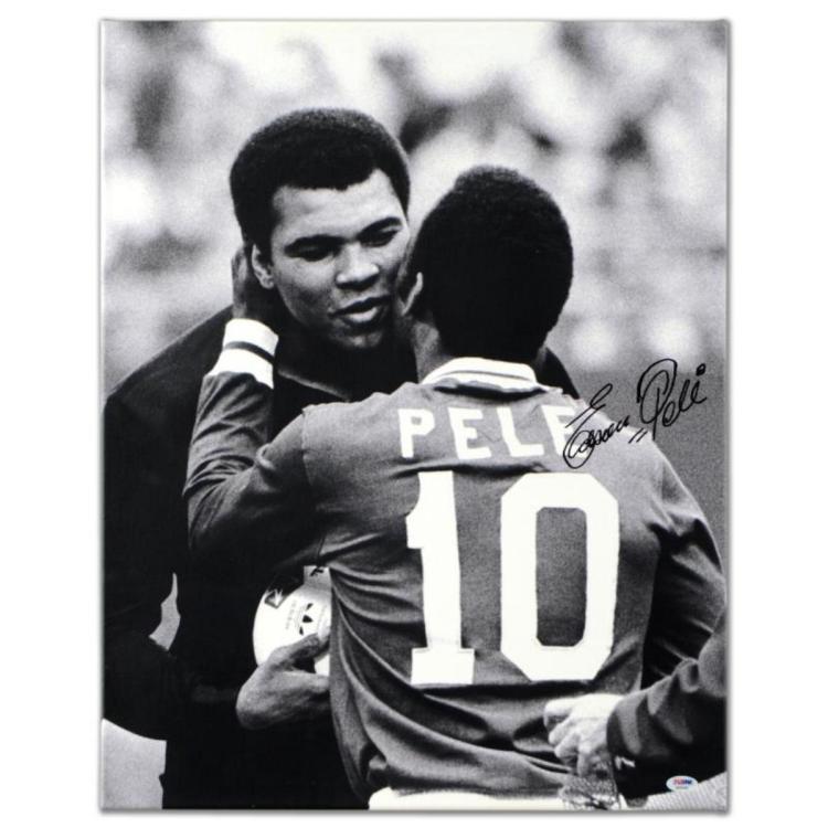 Pele & Ali Hug by Pele