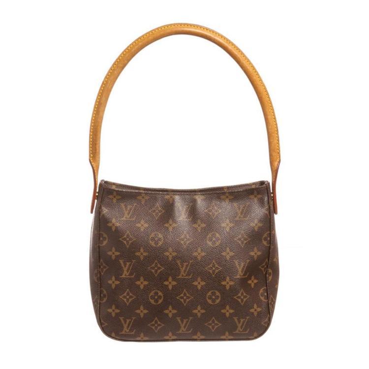Louis Vuitton Monogram Canvas Leather Looping MM Shoulder Bag