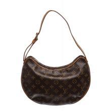 Louis Vuitton Monogram Canvas Leather Croissant GM Bag