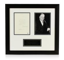 Herbert Hoover Signed Letter Display PSA Certified