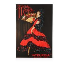 Perfume Maja Myrurgia Hand Pulled Lithograph Vintage Poster