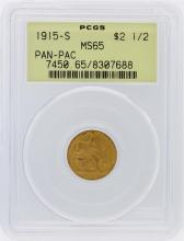 1915-S PCGS MS65 $2.50 Panama Pacific Exposition Gold Coin