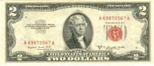 1953-B $2 XF/AV Red Seal Note