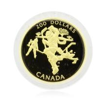1991 Canada $200 Hockey Gold Coin